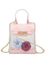 Flower Transparent Clear Handbag - PINK