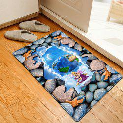 3D Stone Earth Pattern Flannel Water Absorption Area Rug