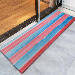 Striped Pattern Water Absorption Indoor Outdoor Area Rug -