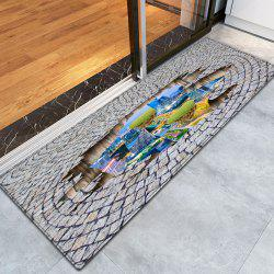 City In The Stone Floor 3D Pattern Water Absorption Flannel Area Rug