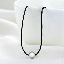 PU Leather Rope Round Collarbone Necklace
