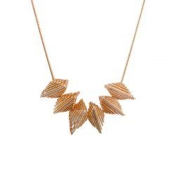 Alloy Metal Geometric Pendant Necklace