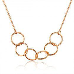 Alloy Metal Circles Collarbone Necklace