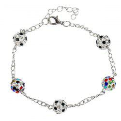 Rhinestone Ball Shaped Chain Bracelet