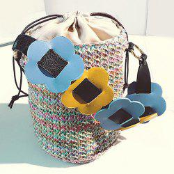 Summer Flower Decor Belt Beach Barrel Bag