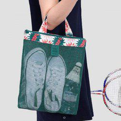 Mesh Panel Beach Tote Bag