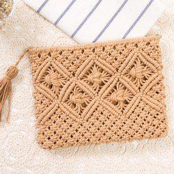 Tassel Crochet Clutch Beach Bag