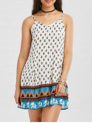 Bohemian Paisley Mini Summer Dress