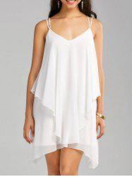 Crisscross Layered Chiffon Slip Dress