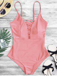 Crisscross Plunge One Piece Swimsuit