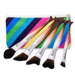 Mermaid Tail Makeup Brushes Set With Brush Bag