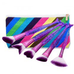 Mermaid Makeup Brushes Set With Brush Bag