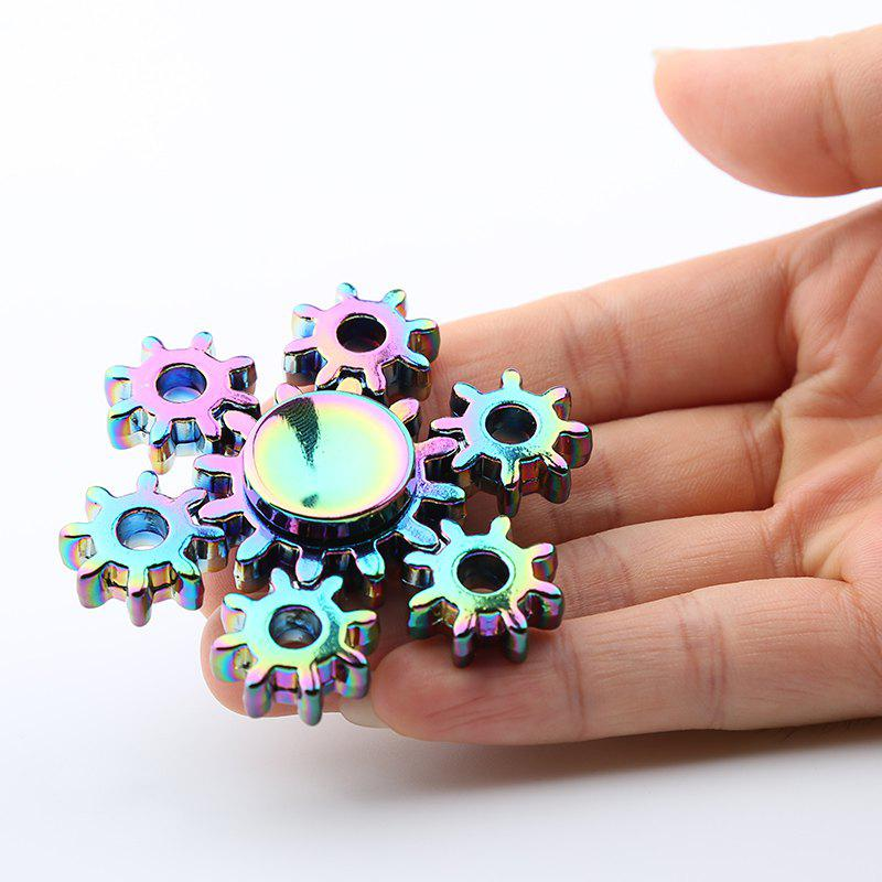 Colorful Rudder Shape Fidget Metal Spinner Anti-stress ToyHOME<br><br>Color: COLORMIX; Products Type: Fidget Spinner; Frame material: Metal; Features: Creative Toy,Detachable; Shape/Pattern: Rudder; Swing Numbers: 6; Weight: 0.1100kg; Package Contents: 1 x Fidget Spinner;