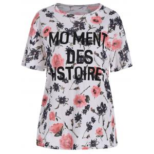 Plus Size Short Sleeve Floral Tee