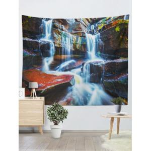 Rectangle Wall Hangings 3D Waterfall Print Tapestry - Multicolore W59 pouces*L79 pouces