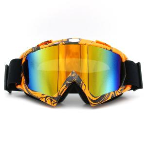 Dustproof UV Protection Off Road Riding Goggles - Orange Brown