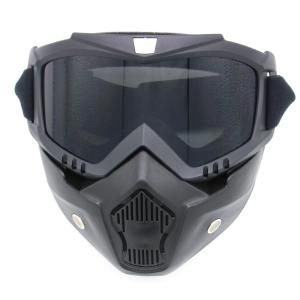Off Road Detachable Breathable Motorcycle Goggles - Gray