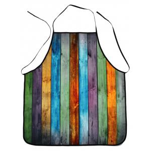 Water Resistant Colorful Woodgrain Fabric Apron
