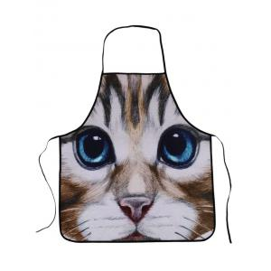 Kitchen Tool Cat Animal Waterproof Polyester Apron