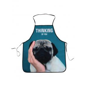 Thinking Dog Print Kitchen Cooking Apron