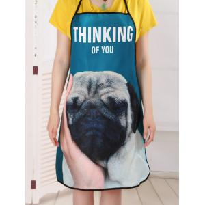 Thinking Dog Print Cuisine Tablier de cuisine -