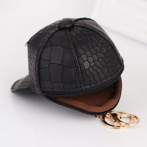 Snake Printed Baseball Hat Coin Purse Key Chain -