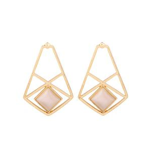 Faux Opal Geometric Earrings