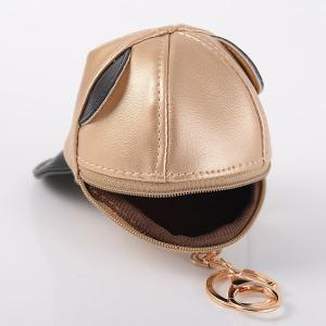 Coin Purse Baseball Hat Cool Keyring - BLACK