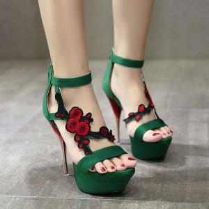 Zipper Applique Sandals