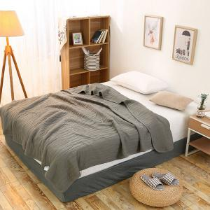 100 Percent Long Stapled Cotton Bed Blanket - Dusty Grey - Queen
