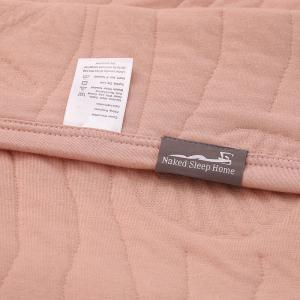 Couverture à 100% de long coton agrafé -