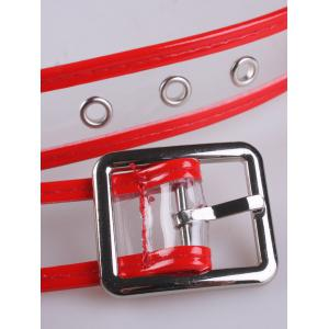 Pin Buckle Candy Color Brim Transparent Belt -