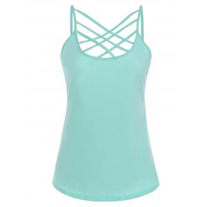 Cut Out Criss Cross Slip Top