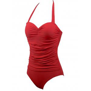 Halter Underwire Retro Swimsuit