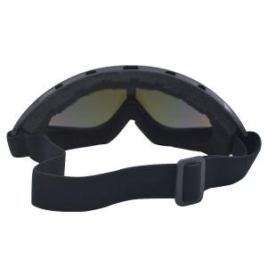UV Protection Anti Fog Dustproof Riding Goggles - BLACK