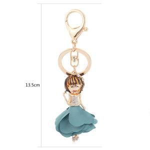 Rhinestoned Bow Fairy Key Chain -