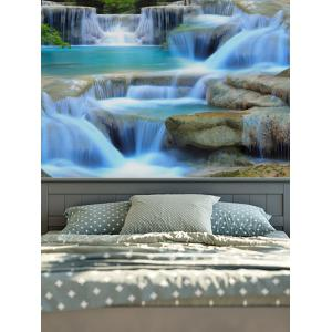 3D Print Magic Landscape Waterfall Wall Hang Tapestry - Colormix - W91 Inch * L71 Inch