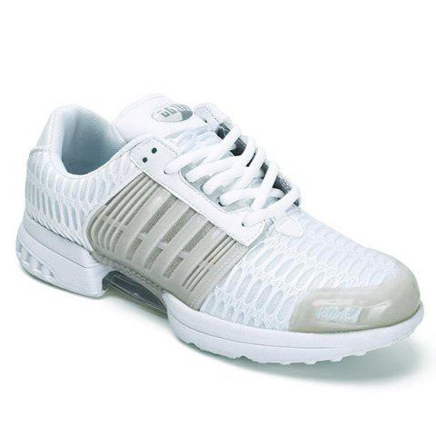 Hot Breathable Mesh Faux Leather Insert Athletic Shoes