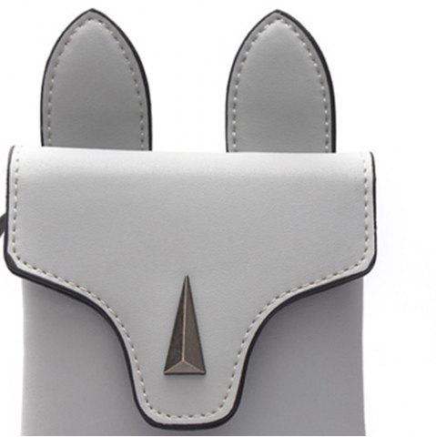 Affordable Bunny Ear Mini Crossbody Bag - GRAY  Mobile