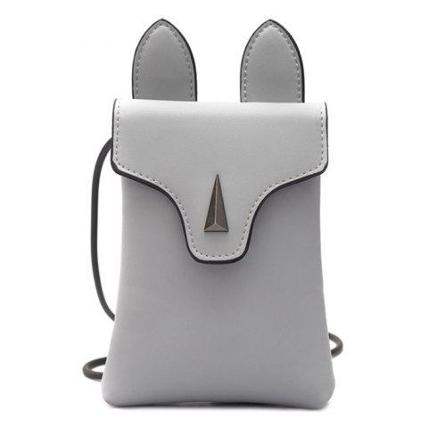 Latest Bunny Ear Mini Crossbody Bag - GRAY  Mobile