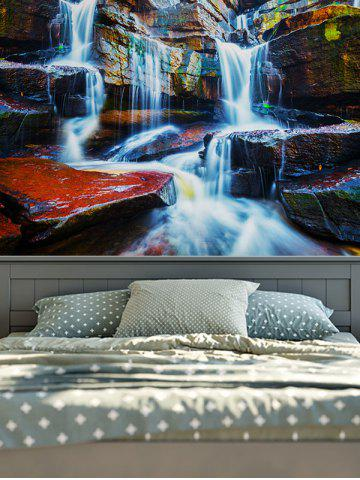 Rectangle Wall Hangings 3D Waterfall Print Tapestry Multicolore W59 pouces*L79 pouces