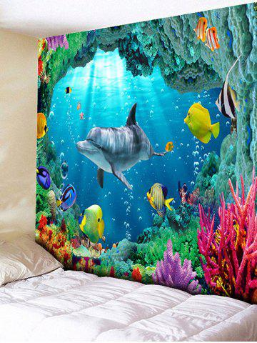 Outfits 3D Sea World Print Rectangle Wall Hanging Tapestry - W79 INCH * L59 INCH OCEAN BLUE Mobile