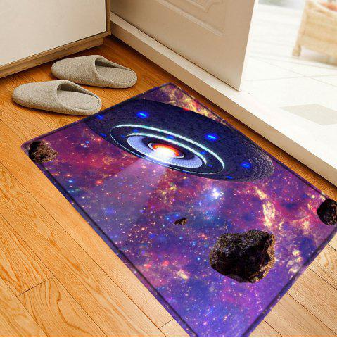 Cheap UFO Galaxy Pattern Water Absorption Flannel Area Rug - W16 INCH * L24 INCH COLORMIX Mobile