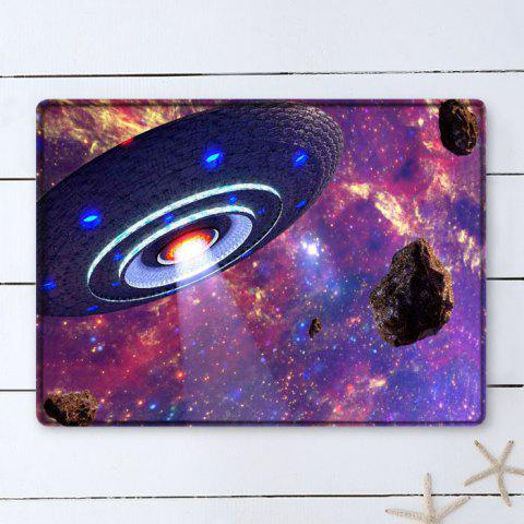 Fancy UFO Galaxy Pattern Water Absorption Flannel Area Rug - W16 INCH * L24 INCH COLORMIX Mobile