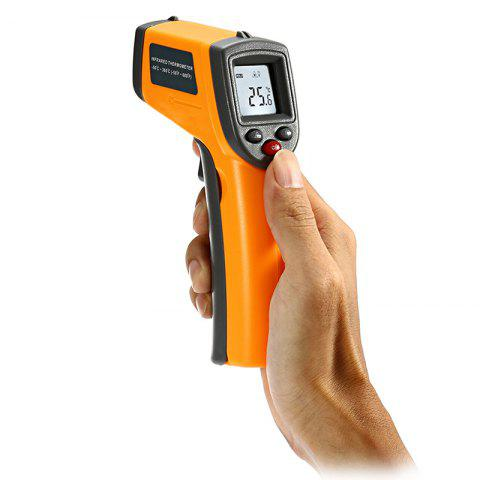 Best GS320 LCD Display Digital IR Infrared Thermometer with Data Hold - YELLOW  Mobile