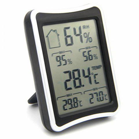 Shops Temperature Humidity Digital Display Thermometer Hygrometer - BLACK  Mobile