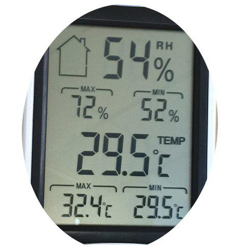 Chic Temperature Humidity Digital Display Thermometer Hygrometer - BLACK  Mobile