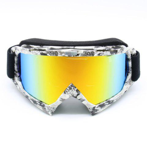 Fashion Dustproof UV Protection Off Road Riding Goggles BLACK WHITE