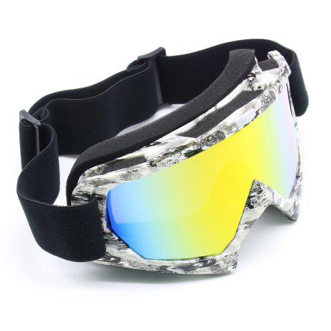 Affordable Dustproof UV Protection Off Road Riding Goggles - BLACK WHITE  Mobile