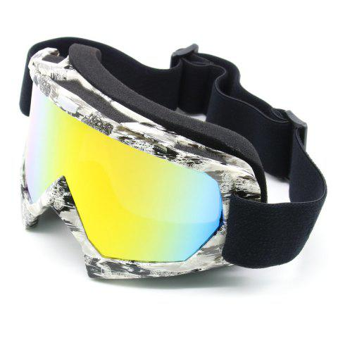 Discount Dustproof UV Protection Off Road Riding Goggles - BLACK WHITE  Mobile